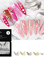 cheap -2 pcs Multi Function / Light and Convenient Metalic Nail Jewelry For Finger Nail Butterfly nail art Manicure Pedicure Party / Evening / Festival Artistic / Cute