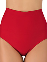 cheap -Women's High Waisted Bikini Bottom Nylon Elastane Bottoms Breathable Quick Dry Swimming Surfing Water Sports Solid Colored Summer / Stretchy