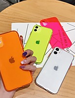 cheap -Solid Colored Transparent TPU for Apple iPhone Case 11 Pro Max X XR XS Max 8 Plus 7 Plus SE(2020) Protection Cover