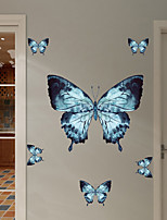 cheap -Color Butterfly Wall Stickers Animal Wall Stickers Decorative Wall Stickers PVC Home Decoration Wall Decal Wall / Window Decoration 1pc