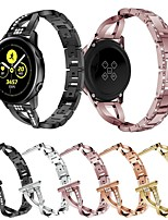 cheap -20mm 22mm Diamond Stainless Steel Band for Samsung Galaxy Watch 42mm 46mm Gear Sport S2 Classic S3 Active Strap Metal Wristband