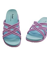 cheap -Women's Slippers & Flip-Flops Summer Flat Heel Open Toe Daily PU Purple / Burgundy