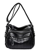 cheap -Women's Zipper / Chain PU Bag Set 2020 Solid Color Black / Blue / Purple