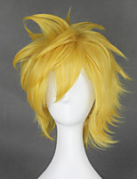 cheap -Cosplay Wig Ventus Kingdom Hearts Straight Cosplay Layered Haircut Wig Very Long Blonde Synthetic Hair 14 inch Women's Anime Cosplay Cool Blonde