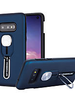 cheap -Case For Samsung Galaxy S10/S10E/S10 Plus/S9/S9 Plus/S8/S8 Plus/A50S/A30S/Note 10/Note 10 Plus Shockproof / with Stand Back Cover Solid Colored TPU / Plastic