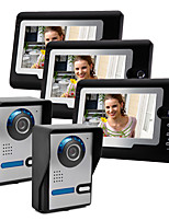 cheap -Wired 7 Inch Hands-free 800*480 Pixel Two to Three Video Doorphone Infrared Night Vision Camera