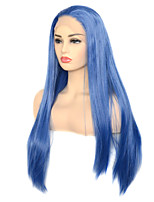 cheap -Vogue Queen Dark Blue Synthetic Lace Front Wig High Density Long Straight Daily Wearing For Women