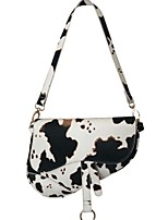 cheap -Women's Zipper / Chain PU Leather Crossbody Bag Leather Bag White