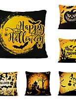 Недорогие -Набор из 6 Хэллоуин вечеринка белье квадратные декоративные наволочки диван наволочки 18x18