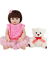cheap -FeelWind 18 inch Reborn Doll Baby & Toddler Toy Reborn Toddler Doll Baby Girl Gift Cute Lovely Parent-Child Interaction Tipped and Sealed Nails Full Body Silicone LV009 with Clothes and Accessories