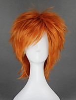cheap -Cosplay Wig Shugo Chara Straight Cosplay Asymmetrical With Bangs Wig Short Orange Synthetic Hair 14 inch Men's Anime Cosplay Best Quality Orange