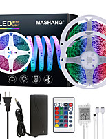 cheap -MASHANG 32.8ft 10M LED Strip Lights RGB SMD 2835 Tiktok Lights 600LEDs SMD 5050 with 24 Keys IR Remote Controller and 100-240V Adapter for Home Bedroom Kitchen TV Back Lights DIY Deco