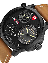 cheap -Men's Sport Watch Quartz Modern Style Stylish Leather Water Resistant / Waterproof Calendar / date / day Analog Cool Big Face - Blue Red Gold / Stainless Steel