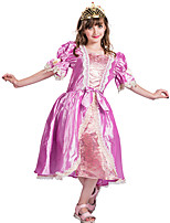 cheap -Princess Rapunzel Aurora Flower Girl Dress Girls' Movie Cosplay A-Line Slip Pink Dress Carnival Children's Day Masquerade Polyester