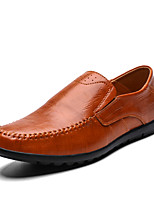 cheap -Men's Fall Business / Casual Office & Career Home Loafers & Slip-Ons Walking Shoes Nappa Leather Light Brown / Dark Brown / Black