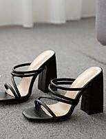 cheap -Women's Sandals / Slippers & Flip-Flops Summer Pumps Open Toe Daily PU White / Black