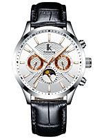 cheap -IK colouring Men's Mechanical Watch Automatic self-winding Vintage Style Modern Style Stainless Steel Genuine Leather Black / White / Brown Water Resistant / Waterproof Noctilucent Analog Casual