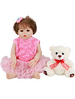 cheap -FeelWind 18 inch Reborn Doll Baby & Toddler Toy Reborn Toddler Doll Baby Girl Gift Cute Lovely Parent-Child Interaction Tipped and Sealed Nails Full Body Silicone LV008 with Clothes and Accessories