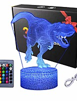 cheap -3D Dinosaur Night Light - 3D Illusion Lamp  and16 Color Change Decor Lamp with Remote Control for Kids Dinosaur Gifts for Boys