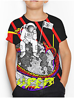 cheap -Kids Boys' Basic Geometric Print Short Sleeve Tee Rainbow