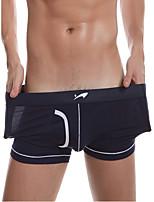 cheap -Men's Basic Boxers Underwear - Normal Low Waist White Black Blue S M L