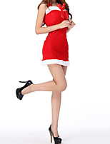 cheap -Women's Cut Out Bow Suits Nightwear Jacquard Solid Colored Red One-Size