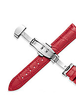 cheap -Genuine Leather / Leather Watch Band Black / White / Red 20cm / 7.9 Inches 1.2cm / 0.47 Inches / 1.4cm / 0.55 Inches / 1.6cm / 0.6 Inches