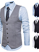 cheap -Gentleman Kingsman Vintage Masquerade Vest Waistcoat Men's Slim Fit Costume Gray & Black / Black / Navy Blue Vintage Cosplay Event / Party Sleeveless