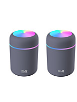 cheap -2pcs Portable 300ml Humidifier USB Ultrasonic Dazzle Cup Aroma Diffuser Cool Mist Maker Air Humidifier Purifier with Romantic Light