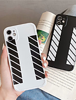 cheap -Gimfun Simple Black White Stripe Case Lovers Hard Plastic Case for Iphone 11 11pro Max se 2020 Xr Xs Max 7 8 Plus Case Back Cover