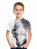 cheap -Kids Boys' Basic Geometric Print Short Sleeve Tee White