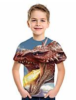 cheap -Kids Boys' Basic Fantastic Beasts Animal Print Short Sleeve Tee Blue