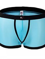 cheap -Men's Basic Boxers Underwear / Briefs Underwear - Normal Low Waist White Black Blue S M L