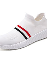 cheap -Women's Trainers / Athletic Shoes 2020 Summer / Fall Flat Heel Round Toe Casual Sweet Athletic Striped Mesh Running Shoes White / Black