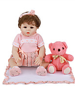 cheap -18 inch Reborn Doll Baby & Toddler Toy Reborn Toddler Doll Baby Girl Gift Cute Lovely Parent-Child Interaction Tipped and Sealed Nails Full Body Silicone with Clothes and Accessories for Girls