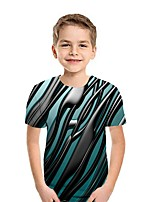 cheap -Kids Boys' Street chic Geometric Short Sleeve Tee Wine