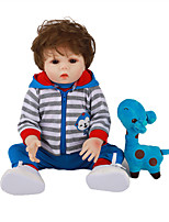 cheap -FeelWind 18 inch Reborn Doll Baby & Toddler Toy Reborn Toddler Doll Baby Boy Gift Cute Lovely Parent-Child Interaction Tipped and Sealed Nails Full Body Silicone LV053 with Clothes and Accessories