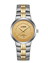 cheap -Women's Steel Band Watches Classic Casual Stainless Steel Quartz Rose Gold Golden+White White Water Resistant / Waterproof Calendar / date / day Analog