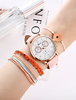 cheap -Women's Quartz Watches Quartz Casual Chronograph PU Leather Blushing Pink Analog - Blushing Pink