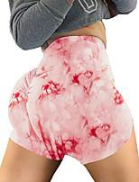cheap -Women's Yoga Basic Legging - Rainbow, Print Mid Waist Purple Red Blushing Pink S M L