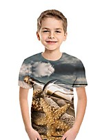 cheap -Kids Boys' Street chic 3D Short Sleeve Tee Gray