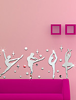 cheap -Ballet Acrylic 3D Mirror Wall Stickers Decorative For Kid