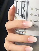 cheap -Nails 2020 24pcs False Nails Creme White Square False Nail Piece Wearing Manicure Stick Finished Nail Piece Full Cover Medium False Gel Nails Art Tips Sets