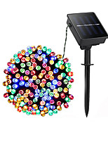 cheap -20m String Lights 200 LEDs Dip Led 1 set Warm White Natural White Multi Color Halloween Christmas Waterproof Solar Decorative Solar Powered