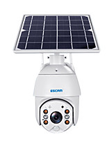 cheap -ESCAM QF480 1080P Cloud Storage PT 4G  PIR Alarm IP Camera With Solar Panel Full Color Night Vision Two Way Audio IP66 With 15000mAh Battery