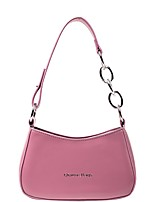 cheap -Women's Zipper PU Leather Top Handle Bag Leather Bags Solid Color White / Black / Purple