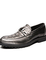 cheap -Men's Summer / Fall Classic / British Daily Outdoor Loafers & Slip-Ons Walking Shoes Leather Breathable Wear Proof Wine / Black / Dark Blue