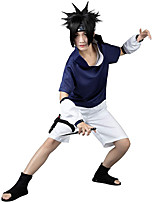 cheap -Inspired by Naruto Uchiha Sasuke Anime Cosplay Costumes Japanese Outfits Pants Bag T-shirt For Men's Women's / Wristlet
