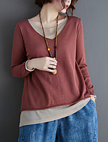 cheap -Women's Solid Colored Blouse Daily Going out Wine / Black / Blue / Gray