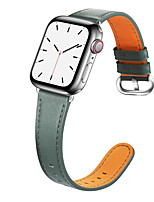 cheap -Watch Band for Apple Watch Series 4 / Apple Watch Series 4/3/2/1 / Apple Watch Series 3 Apple Business Band Genuine Leather Wrist Strap